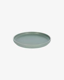 Shun dessert plate in green porcelain