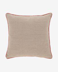 Κάλυμμα μαξιλαριού Dalila PET 60 x 60 εκ, μπεζ