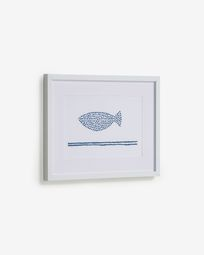 Πίνακας Kuma 30 x 40 εκ, ψάρι με μπλε βούλες