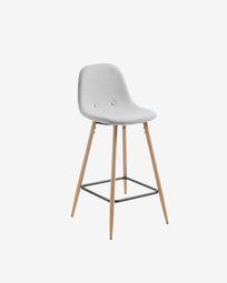 Light grey Nolite stool height 65 cm