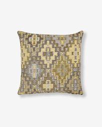 Nazca cushion cover 45 x 45 cm mustard