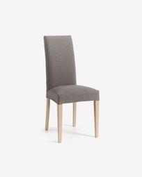 Καρέκλα Freda, γκρι και φυσικό