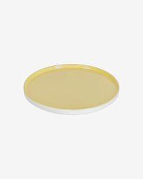 Κεραμικό πιάτο φαγητού Midori, κίτρινο