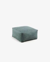 Turquoise Indam pouf 60 x 60 cm