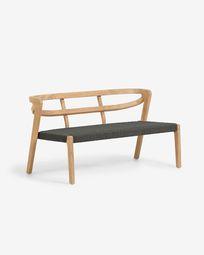Ezilda solid eucalyptus 2-seater cord sofa in green 122 cm (100% FSC)
