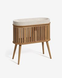 Rokia solid teak bathroom cabinet with countertop washbasin 90 x 80 cm