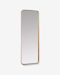 Μεταλλικός επιτοίχιος καθρέπτης Marco 55 x 150,5 εκ, χρυσό