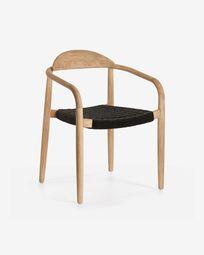 Καρέκλα σε ευκάλυπτο Nina, γκρι FSC 100%
