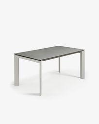 Extendable table Axis 140 (200) cm porcelain Hydra Lead finish gray legs