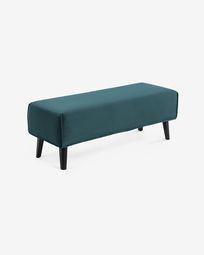 Turquoise velvet Dyla bench 111 cm