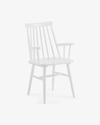 Tressia chair white with armrests