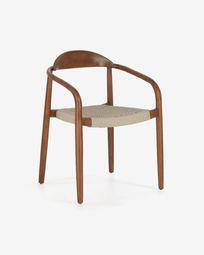 Beige Nina chair eucalyptus walnut finish FSC 100%