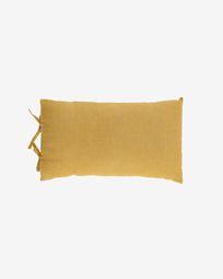 Κάλυμμα μαξιλαριού Tazu, 100% λινό, 30 x 50 εκ, μπουσταρδί