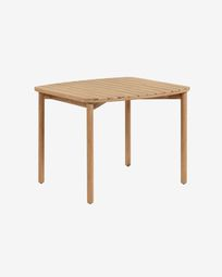 Sheryl 90 x 90 cm table made from solid eucalyptus FSC 100%