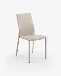 Καρέκλα Abelle, μπεζ συνθετικό δέρμα