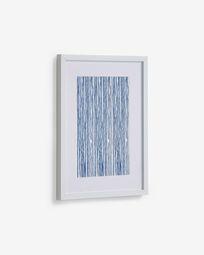 Πίνακς Kuma 30 x 40 εκ, μπλε ρίγες
