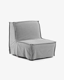 Καναπές-κρεβάτι Lyanna 90 εκ, γκρι
