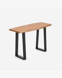 Ψηλό τραπέζι Alaia, μασίφ φυσικό ξύλο ακακίας σε φυσικό φινίρισμα, 115 x 40 εκ