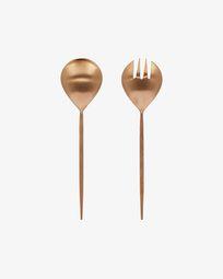Kelda 2-piece cutlery set for salad rose gold