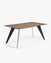 Koda table 180 cm porcelain Iron Corten black legs