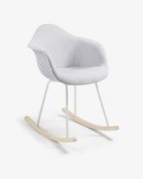 Κουνιστή καρέκλα Kevya, ανοιχτό γκρι