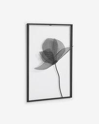 Μεταλλικό πίνακας λουλούδι Nakita 40 x 46 εκ, μαύρο