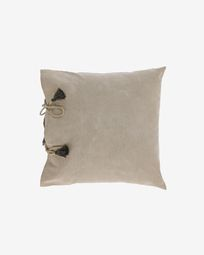 Κάλυμμα μαξιλαριού Varina, 100% βαμβάκι, 45 x 45 εκ, καφέ