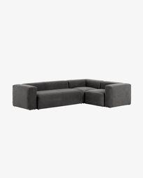 Γωνιακός καναπές 4θ Grey Blok 320 x 230 εκ