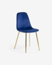 Καρέκλα Yaren, μπλε ύφασμα