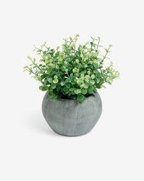 Τεχνητό φυτό ευκαλύπτου σε γκρι γλαστράκι