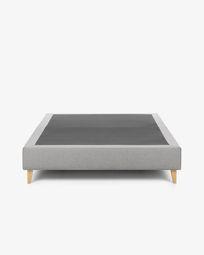 Bed base high Nikos 150 x 190 cm grey