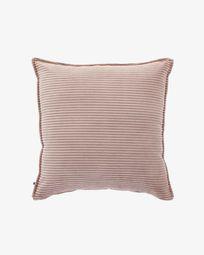 Pink corduroy Wilma cushion cover 60 x 60 cm