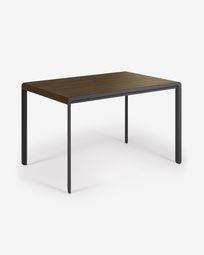 Nadyria 120 (160) x 80 cm table with an walnut finish