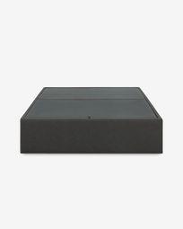 Βάση κρεβατιού με αποθηκευτικό χώρο Matters, 150 x 190 εκ, γραφίτης