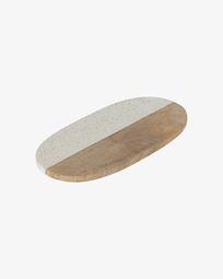 Augustine granite and wood serving board