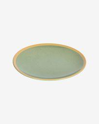Tilia ceramic dinner plate in light green