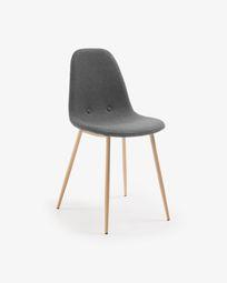 Καρέκλα Yaren, σκούρο γκρι