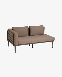 Pascale 2-seater sofa in aluminium with a grey finish 161 cm