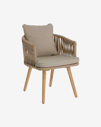 Hemilce chair in beige cord FSC 100%