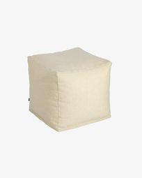 Τετράγωνο πουφ Nedra 50 x 50 εκ Nedra, μπεζ