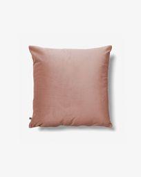 Κάλυμμα μαξιλαριού Lita 45 x 45 εκ, ροζ βελούδο