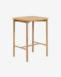 Sheryl 75 x 75 cm side table made from solid eucalyptus FSC 100%