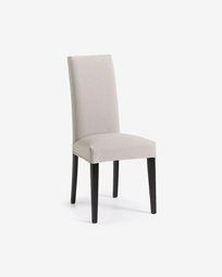 Καρέκλα Freda, μπεζ και μαύρο