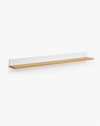 Abilen oak veneer and white lacquer shelves 120 x 9 cm FSC 100%