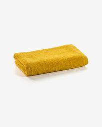 Μικρή πετσέτα μπάνιου Miekki, μουσταρδί