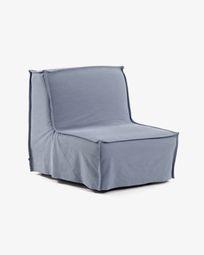 Καναπές-κρεβάτι Lyanna 90 εκ, μπλε