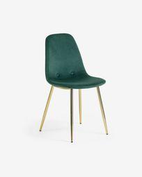 Καρέκλα Yaren, πράσινο βελούδο