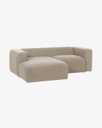 2θ καναπές με ανάκλινδρο αριστερά Blok 240 εκ, μπεζ