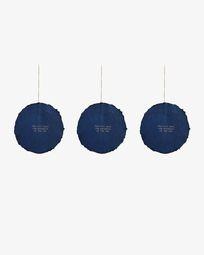 Astrea set of 3 blue Christmas baubles