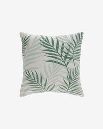 Κάλυμμα μαξιλαριού Amorela, 100% βαμβακερό, 45 x 45 εκ, πράσινα φύλλα